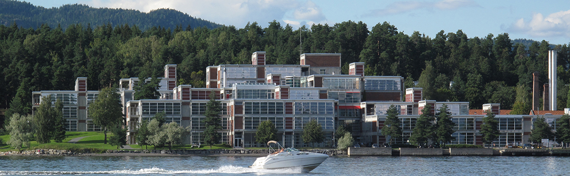 Høvik headquarters from the sea